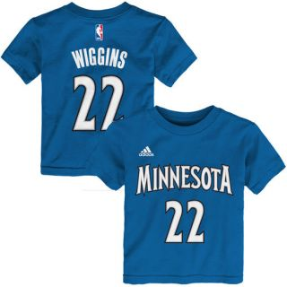 adidas Andrew Wiggins Minnesota Timberwolves Toddler Slate Blue Name & Number T Shirt