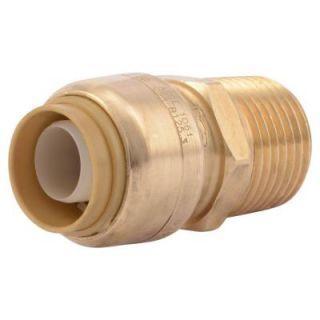 SharkBite 3/4 in. Brass Push to Connect x Male Pipe Thread Adapter U134LFA