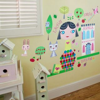 140 Piece Lisa Paper Doll Peel and Place Wall Decal Set by Oopsy Daisy