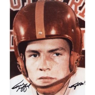 Frank Gifford USC Trojans  Authentic Autographed 8 x 10 Head Shot Photograph with Fight On Inscription