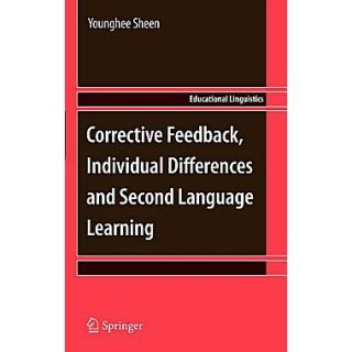 Springer Corrective Feedback, Individual Differences and Second Language.. Vol. 13 Hardcover Book