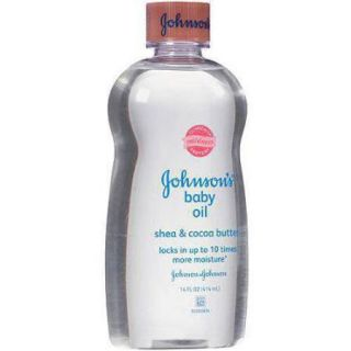 Johnson's Baby Oil with Shea & Cocoa Butter, 14 Fl. Oz