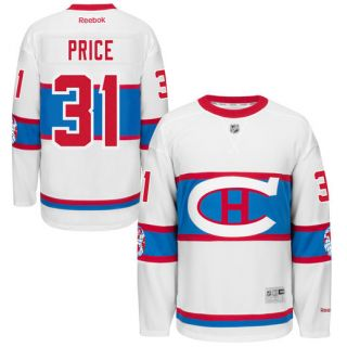 Reebok Carey Price Montreal Canadiens White 2016 Winter Classic Premier Jersey