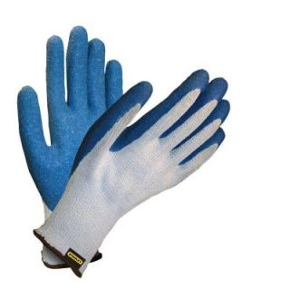 Stanley Gray Polyester Cotton Glove with Blue Crinkle Latex Coating S39821
