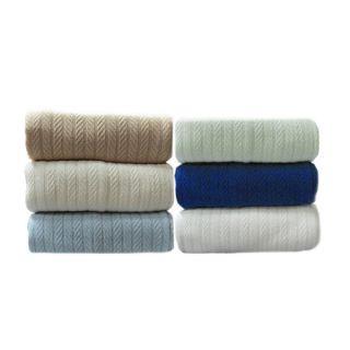 Fresh Herringbone Knit Weave Cotton Blanket   16128296