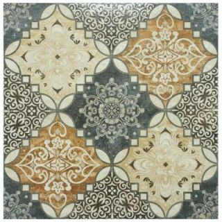 Merola Tile Traver Home Decor 17 3/4 in. x 17 3/4 in. Ceramic Floor and Wall Tile (15.62 sq. ft. / case) FPM18THD