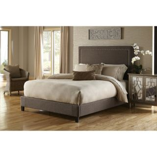 Elegant Taupe Queen Size Upholstered Bed