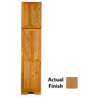 KraftMaid 18 in W x 83.5 in H x 21.88 in D Fawn Oak Freestanding Linen Cabinet