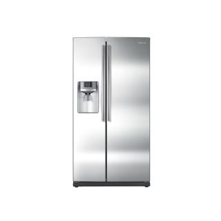 Samsung 25.6 cu ft Side By Side Refrigerator with Single Ice Maker (Stainless Steel) ENERGY STAR Certified