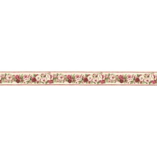 Norwall 3 in Red Prepasted Wallpaper Border