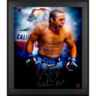 Urijah Faber Ultimate Fighting Championship  Authentic Framed Autographed 20 x 24 In Focus Photograph with The California Kid Inscription   #1 of a Limited Edition of 25