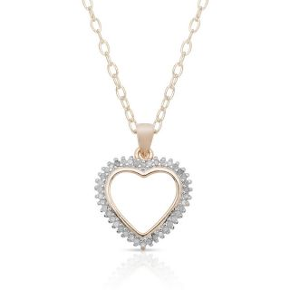 Finesque Sterling Silver 1/4ct TDW Diamond Heart Necklace (I J, I2 I3)
