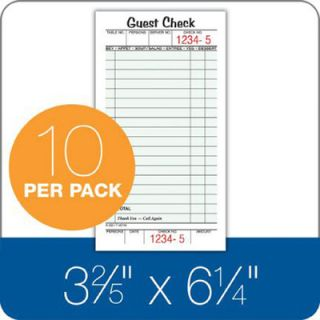 Part Perforated Guest Check Pad by Adams Business Forms