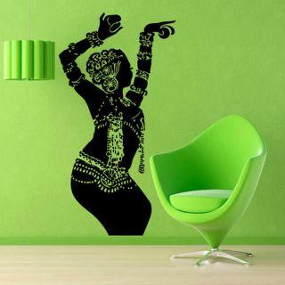 Dancing Indian Woman Sticker Vinyl Wall Art   17216471