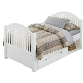 Hillsdale Furniture Lake House Adrian Twin Bed with Storage and Rails   8106304