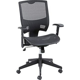 Alera ALEEP4218 Epoch Mesh Mid Back Managers Chair with Adjustable Arms, Black
