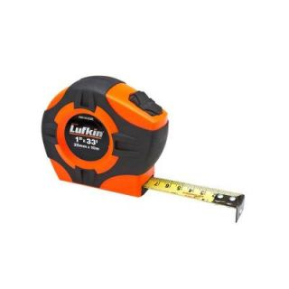 Lufkin 1 in. x 33 ft. (25mm x 10m) Power Return Tape Measure PHV1410CME