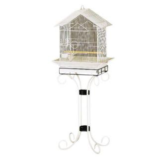 Prevue Pets House Style Cockatiel Floor Cage   Black & White