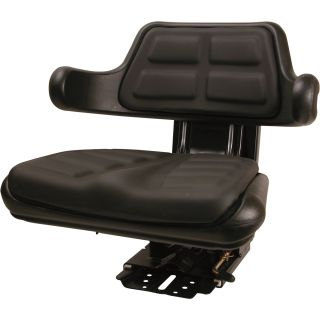 A & I 5-Position Black Seat — Black, Model# W223BL  Lawn Tractor   Utility Vehicle Seats