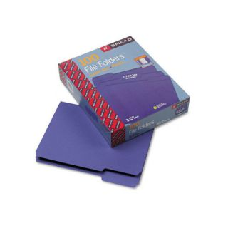 Cut Top Tab File Folders, Letter, 100/Box