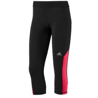adidas Techfit Tight Capris   Womens   Training   Clothing   Black/Matte Silver