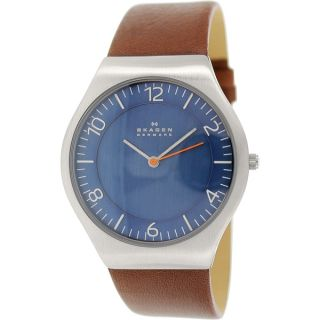 Skagen Grenen Mens Stainless Steel and Leather SKW6112 Watch