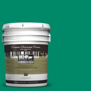 BEHR Premium Plus Ultra 5 gal. #S G 470 Festive Green Semi Gloss Enamel Exterior Paint 585305