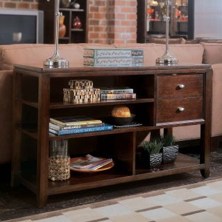 American Drew 912 925 Tribecca Sofa Table in Root Beer