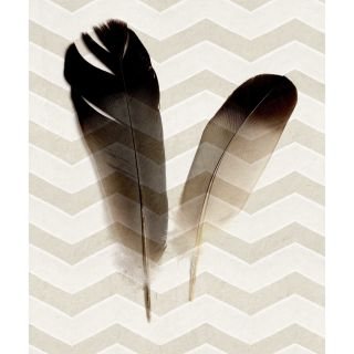 Zig Zag Feathers Painting Print on Wrapped Canvas by Marmont Hill