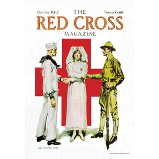 The Red Cross Magazine, October 1917 by James M. Flagg Vintage