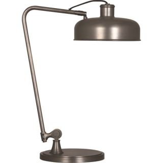 Robert Abbey P747 Albert 1 Light Table Lamp in Patina Nickel with Metal Shade