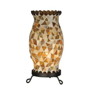 Dale Tiffany Beige Hurricane 1 Light Black Accent Table Lamp DISCONTINUED STA11100