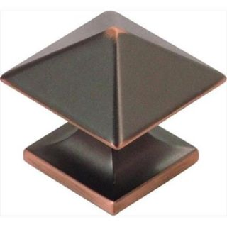 Hickory Hardware P3015 OBH 1. 25 inch Square Studio Collection Oil Rubbed Bronze Cabinet Knob