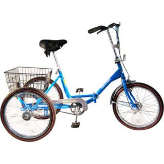 """20"""" Trifecta Adult Single Speed Folding Tricycle"""