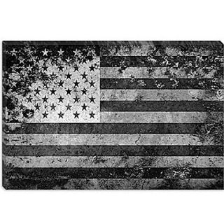 iCanvas Flags U.S.A. Grunge Graphic Art on Canvas; 40 H x 60 W x 1.5 D