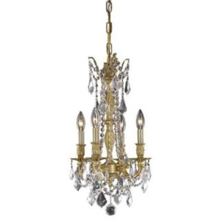 4 Light Blubs Hanging Fixture in French Gold (Elegant Cut)