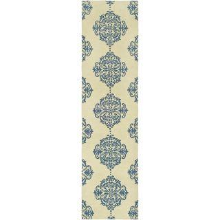 Safavieh Hand Hooked Chelsea Ivory/Blue Geometric Wool Rug (26 x 14