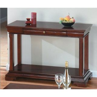 Jofran 299 4 Shelf and Drawer Sofa Table in Regal Cherry