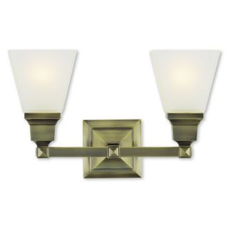 Livex Lighting Mission Antique Brass Two light Bath Light   18917403