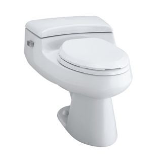 Kohler K 3597 San Raphael Vitreous China 1 0 GPF Pressure Flush Comfort Height Elongated One Piece Toilet with Seat and Cover without Supply Line