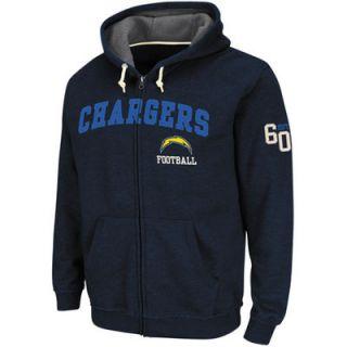 San Diego Chargers Overtime Victory II Full Zip Hoodie   Navy Blue