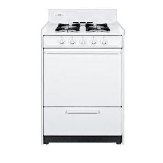 Summit Appliance 24 in. 2.92 cu. ft. Gas Range in White WNM6107