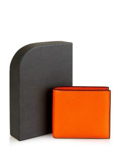 Bi fold grained leather wallet  Valextra US