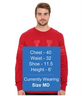 Huf Home Field Long Sleeve Shirt Red