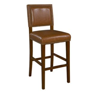 Brook 24 Bar Stool with Cushion by Linon