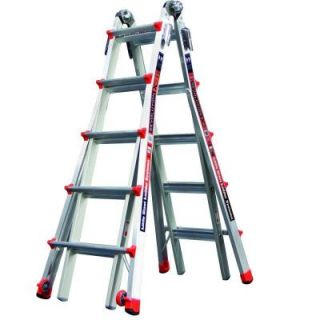 Little Giant Ladder Systems Revolution 22 ft. Aluminum Multi Position Ladder with 300 lb. Load Capacity Type IA Duty Rating 12022