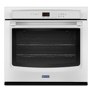 Maytag Single Electric Wall Oven (White) (Common: 27 in; Actual 27 in)