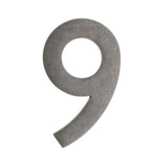 Architectural Mailboxes 4 In. Antique Pewter Floating House Number 9 3582APA 9