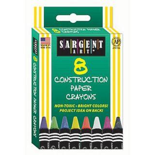 Sargent Art 8 Piece Construction Paper Crayons