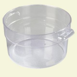 Carlisle 2 qt. Polycarbonate Round Storage Container in Clear (Case of 12) 1076307